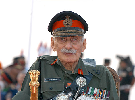 The first Field Marshal of India (Sam Manekshaw)